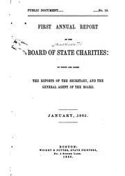 Cover of: Annual Report of the Board of State Charities of Massachusetts |