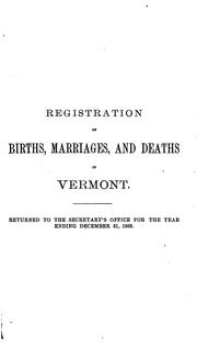 Report ...: Relating to the Registry and Returns of Births, Marriages, Deaths and Divorces in ...