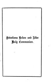 Cover of: Devotions before and after holy communion [compiled by M. Trench]. |