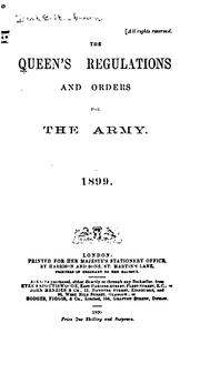 Cover of: The Queen's Regulations and Orders for the Army |