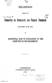 Cover of: Hearings Before the Committee on Interstate and Foreign Commerce, January 16 ... |