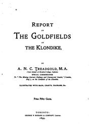 Cover of: Report on the Goldfields of the Klondike |