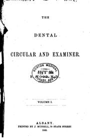 Cover of: Dental Circular and Examiner |