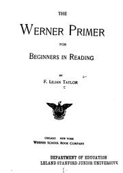 The Werner Primer for Beginners in Reading by