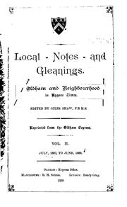 Cover of: Local Notes and Gleanings: Oldham and Neighborhood in Bygone Times |