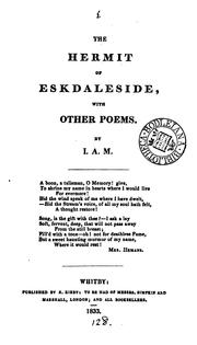 Cover of: The hermit of Eskdaleside, with other poems, by I.A.M. |