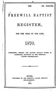 Cover of: The Freewill Baptist Register |