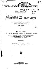 Cover of: Federal Motion Picture Commission: # Before the Committee on Education, House of Representatives ... |