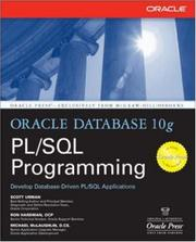 Cover of: Oracle Database 10g PL/SQL Programming | Scott Urman