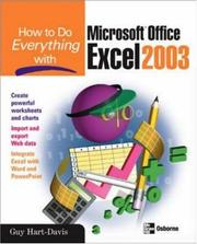 Cover of: How to do everything with Microsoft Office Excel 2003