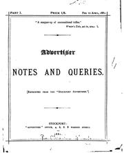 Cover of: Advertiser Notes and Queries |