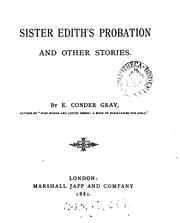 Cover of: Sister Edith,s Probation |