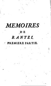 Memoires de Rantzi by