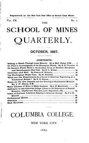Cover of: The School of Mines Quarterly |