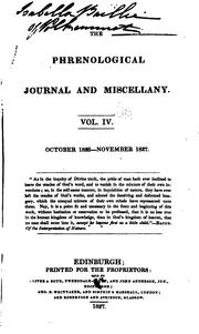 Cover of: The Phrenological Journal and Miscellany |