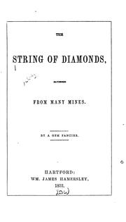 Cover of: The String of Diamonds: Gathered from Many Mines |
