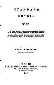Cover of: Henry Masterton; or, The adventures of a young cavalier, by the author of