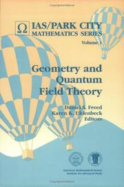 Cover of: Geometry and quantum field theory