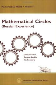 Cover of: Mathematical circles