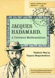 Cover of: Jacques Hadamard
