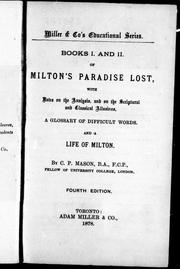 Books I. and II. of Miltons Paradise lost