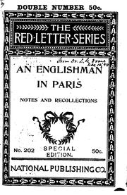 Cover of: An Englishman in Paris (Notes and Recollections) |
