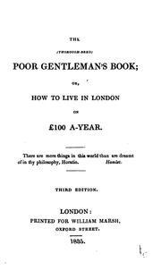 Cover of: The thorough-bred poor gentleman