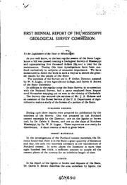 Cover of: Biennial Report of the Mississippi Geological Survey Commission |