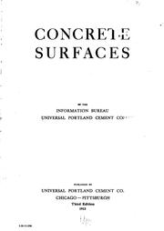 Cover of: Concrete Surfaces |