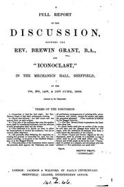 Cover of: A Full Reprot of the Discussion