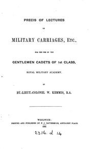 Cover of: Précis of lectures on military carriages |