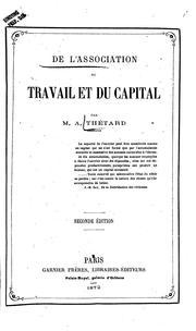 Cover of: De l'association du travail et du capital