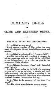 Cover of: The complete guide to company drill in close and extended order |