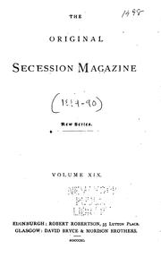 Cover of: The Original Secession Magazine |