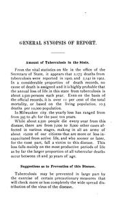 Cover of: Report of the Wisconsin State Tuberculosis Commission: Prepared in Compliance with Joint ...