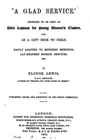 Cover of: 'A glad service', Bible lessons