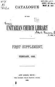Cover of: Catalogue of the Unitarian Church Library ...