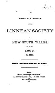 Cover of: The Proceedings of the Linnean Society of New South Wales |