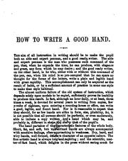 Cover of: How to write a good, legible, and fluent hand |