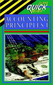 Cover of: Accounting principles I