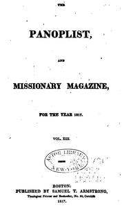 Cover of: The Panoplist, and Missionary Magazine |