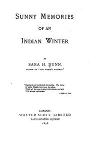 Cover of: Sunny Memories of an Indian Winter
