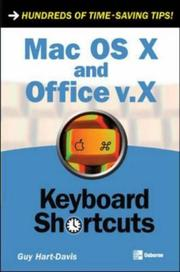 Cover of: Mac OS X and Office v.X: keyboard shortcuts