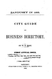 Cover of: Sandusky in 1855: City Guide and Business Directory