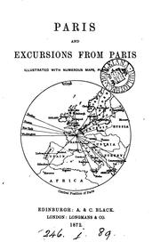 Cover of: Paris, and excursions from Paris [by C.B. Black]. |