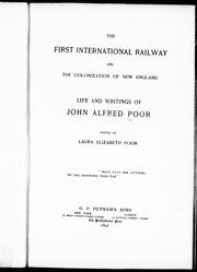 Cover of: The first international railway and the colonization of New England