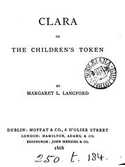 Cover of: Clara; or, The children