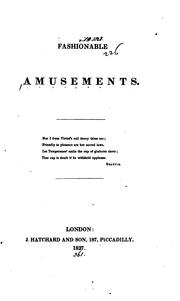 Cover of: Fashionable amusements [by D.R. Thomason.].