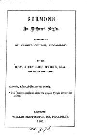 Cover of: Sermons in different styles, preached at St. James's church, Piccadilly