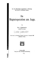Cover of: Die Magnetoperation am Auge